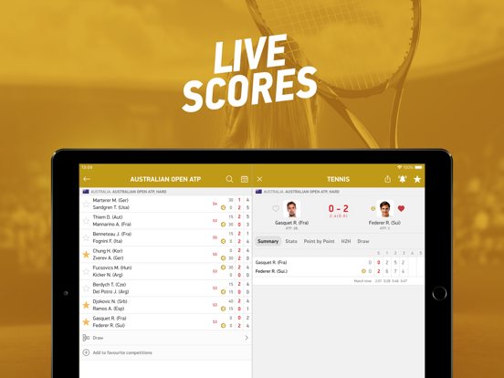 FlashScore screenshot