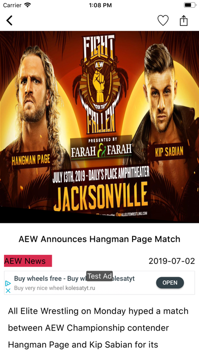 Pro Wrestling News Hub screenshot two
