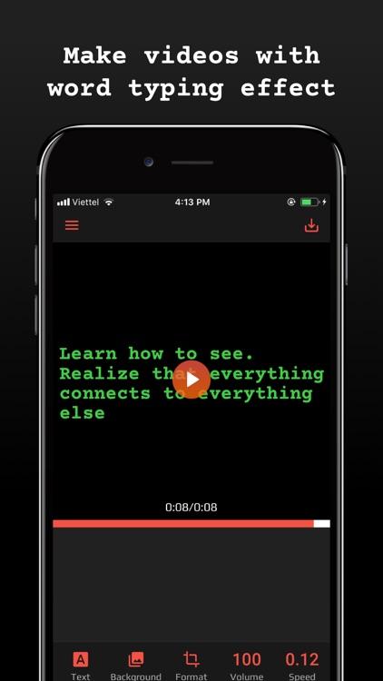 Typewriter: Typing Video Maker screenshot-0