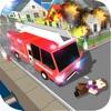 ブロッキー消防車と救急車