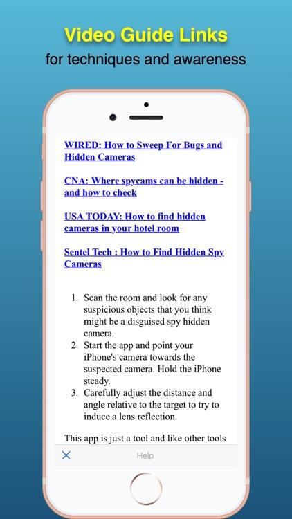 Spy hidden camera Detector screenshot-6