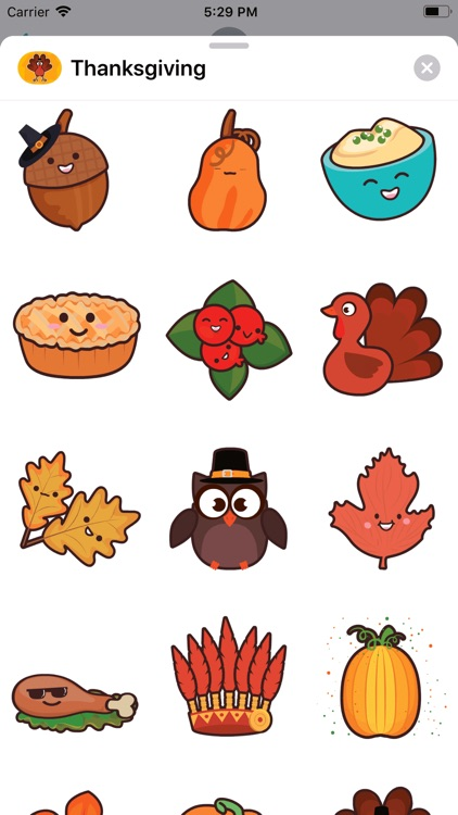 Thanksgiving Day Stickers * screenshot-4