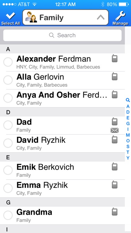 Contacts List Pro