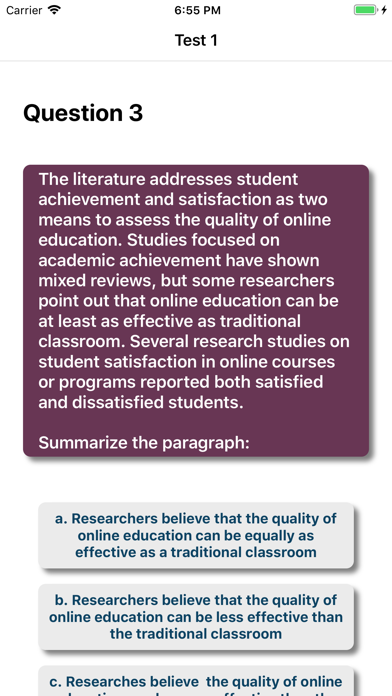 Comprehension Genius-QTS,IELTS Screenshot
