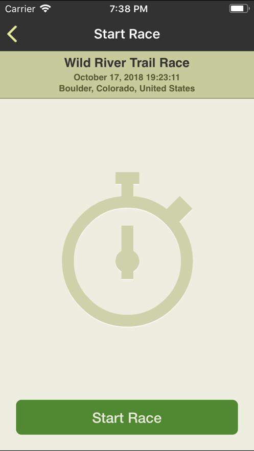 RaceSplitter — Race Timer App 截图