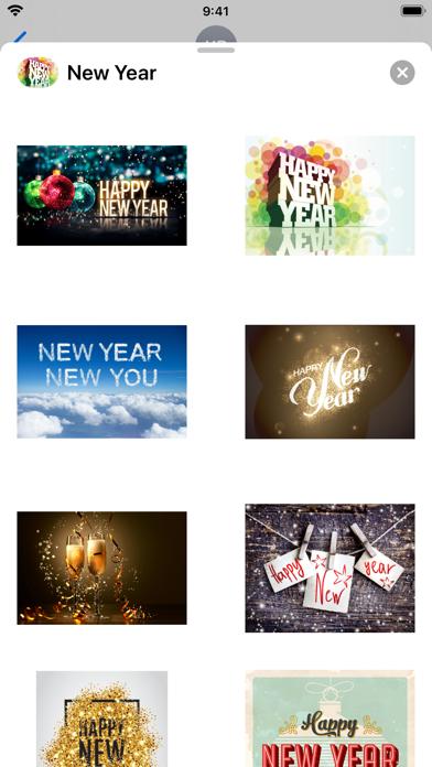 Happy New Year: Stickers
