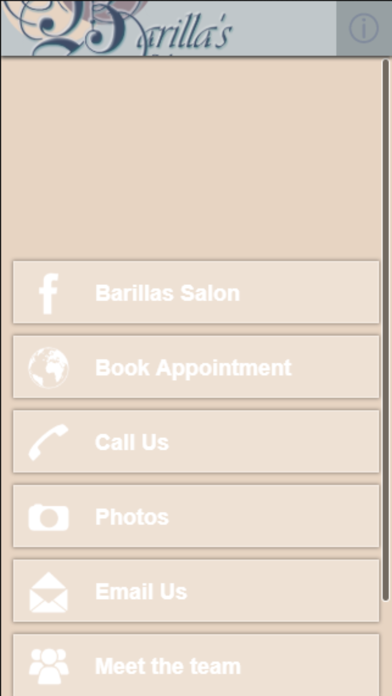 Barilla's Salon screenshot one