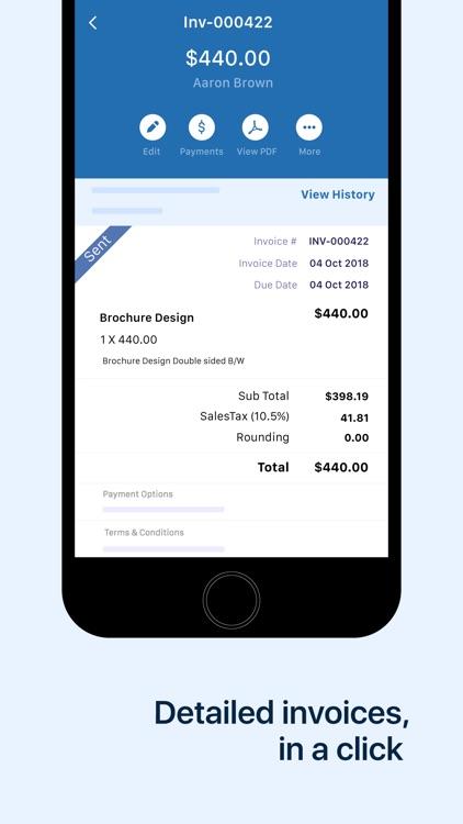 Accounting app - Zoho Books
