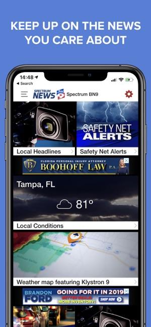 Spectrum Tampa Fl >> Spectrum Bay News 9 On The App Store