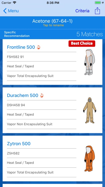 HazMatch® Protective Guide screenshot-3