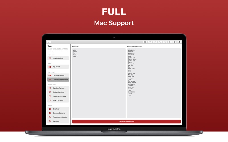 Redbox Toolbox - ASO Tools for Mac