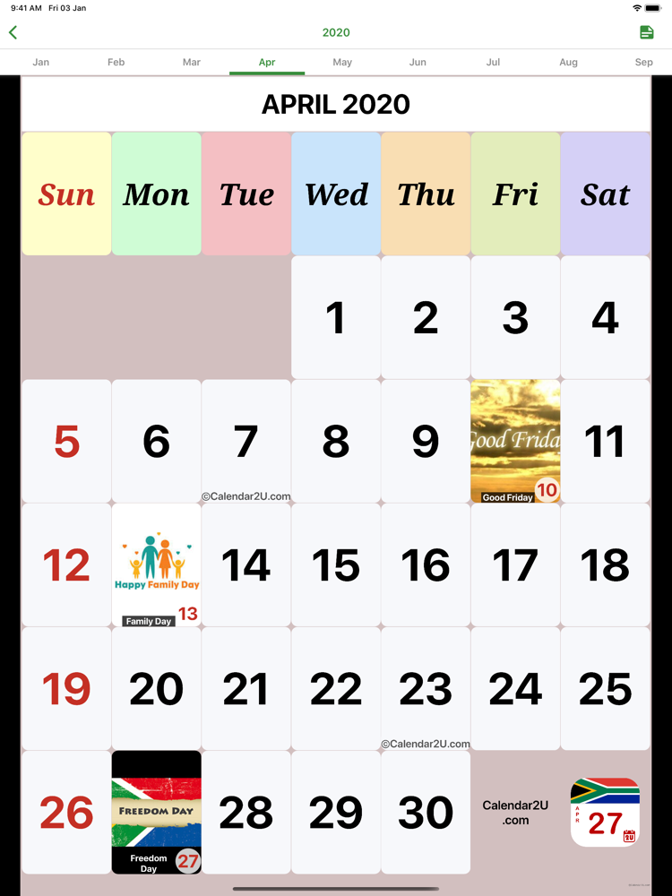 S.Africa Calendar 2020 - 2021 App for iPhone - Free Download S.Africa Calendar 2020 - 2021 for