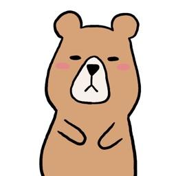 くまさんのステッカー kumasan sticker