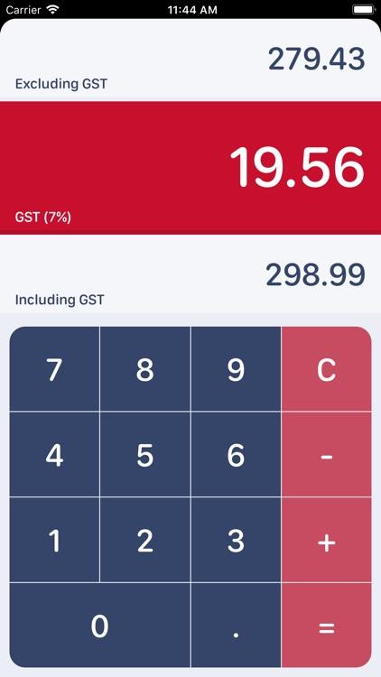 Singaporean GST Calculator