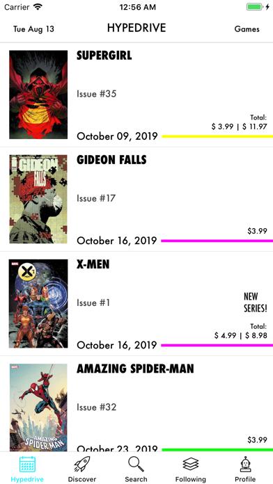 Hypedrive: New Comics Guide screenshot three