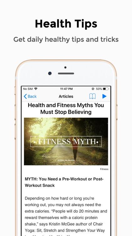 Make Me Healthy - Fitness app screenshot-3