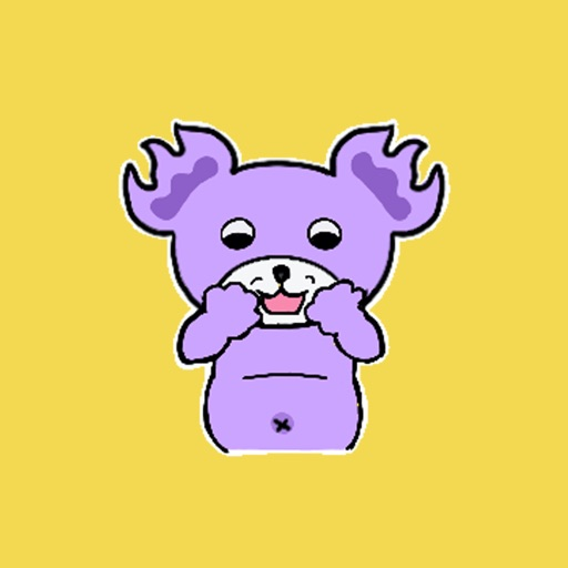 Dull Purple Bear Stickers