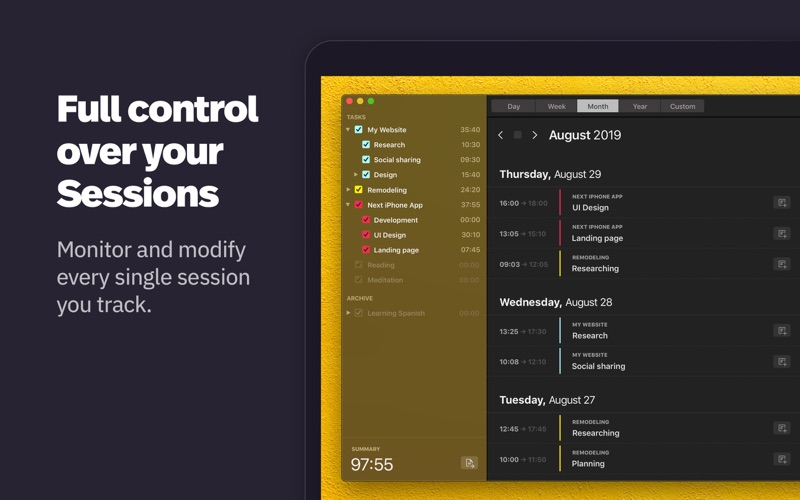Klokki Slim - Time Tracking скриншот программы 4