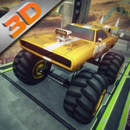 3D Monster Truck Derby Stunt