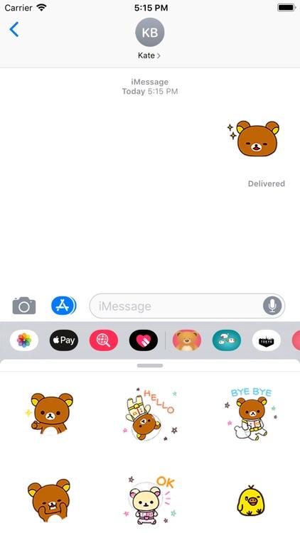 Cute Brown Bear Stickers