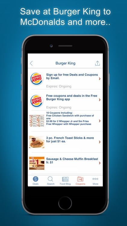 Food Coupons, Fast Food Deals