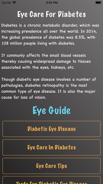 Eye Care For Diabetes