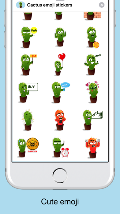 Cactus emoji - funny plants screenshot 2