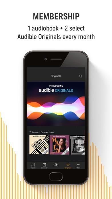 Audible Audiobooks Originals review screenshots
