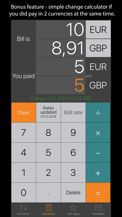 Currency Converter Plus ScreenShot3