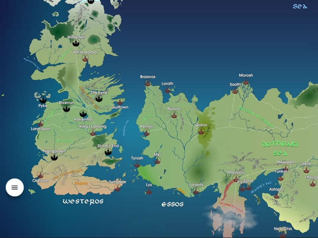 GoT Map Recap on the App Store Detailed Game Of Thrones Map on