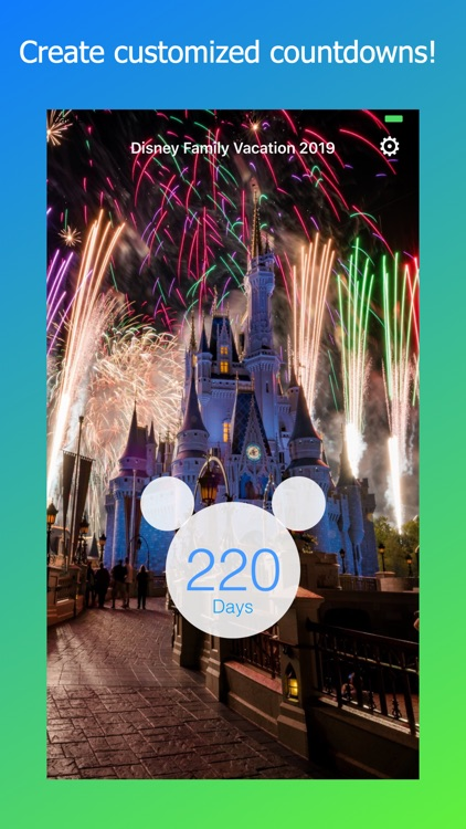 Countdown for Disney World