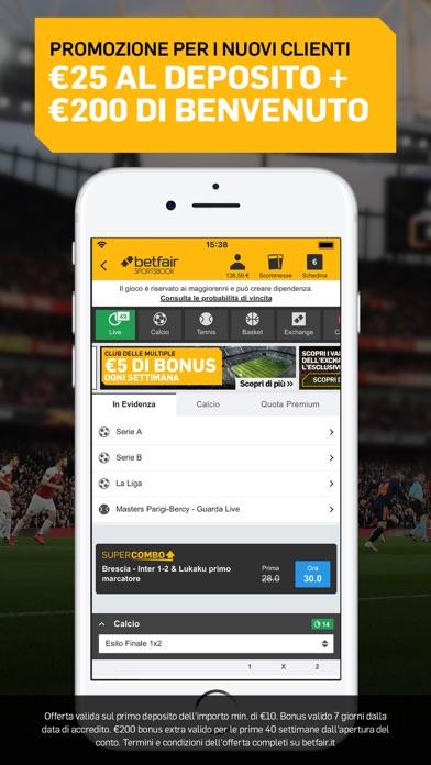 Screenshot of Betfair Sport - Scommesse1