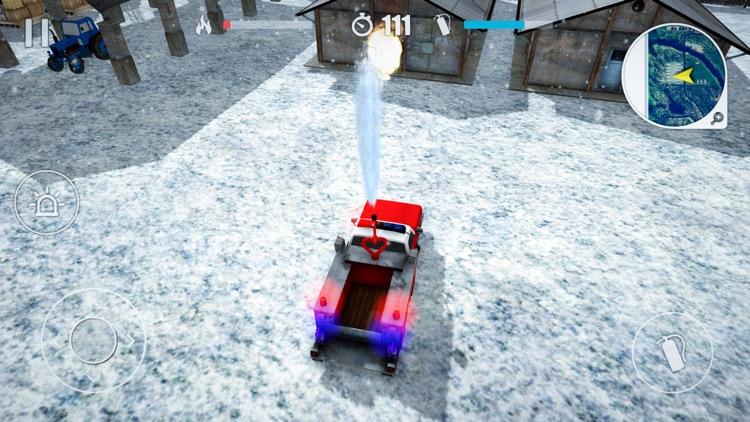 Winter Rescue Fire Trucks screenshot-3
