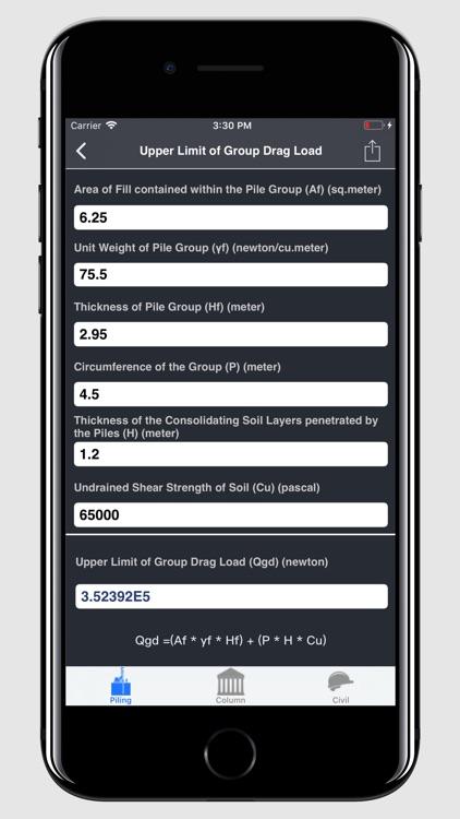 Pile and Piling Calculator screenshot-3