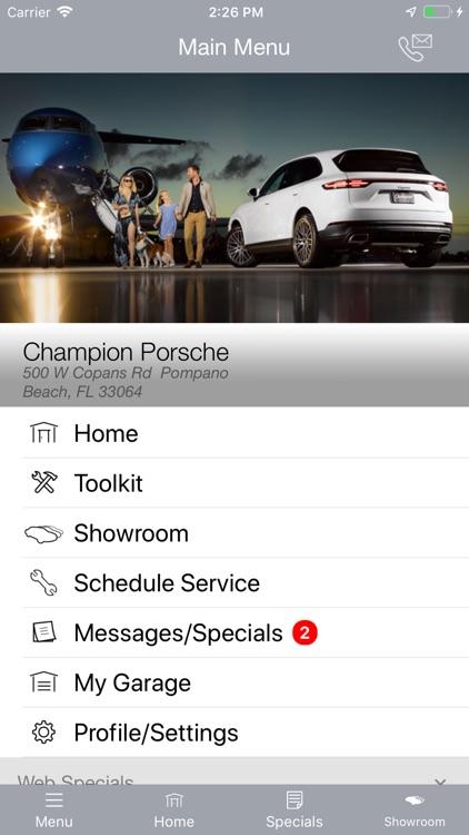 Champion Porsche MLink screenshot-3
