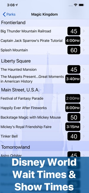Wait Times for Disney World on the App Store