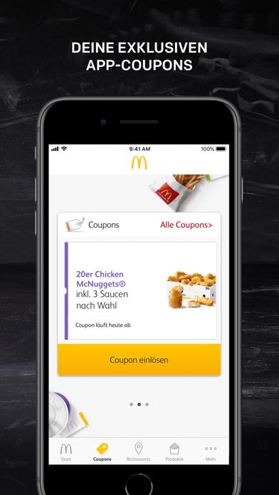 Screenshot for McDonald's Deutschland in Germany App Store