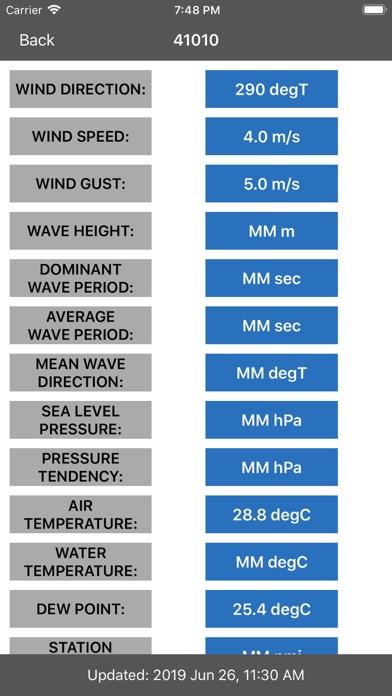 Buoy Stations Feed: NOAA(NDBC) screenshot two