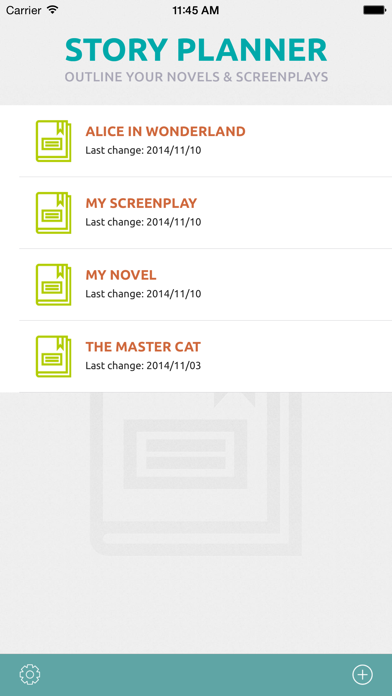 Screenshot for Story Planner for Writers in Romania App Store