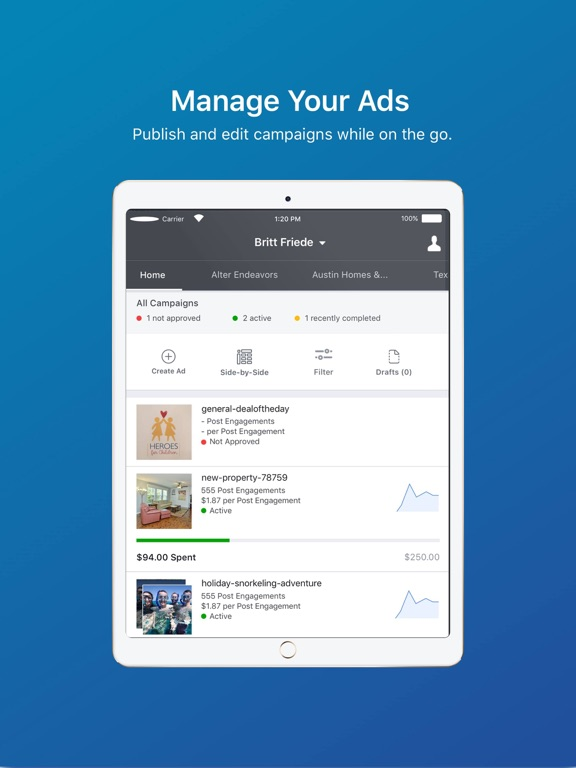 Facebook Ads Manager-ipad-0