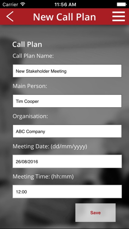JHW Call Plan