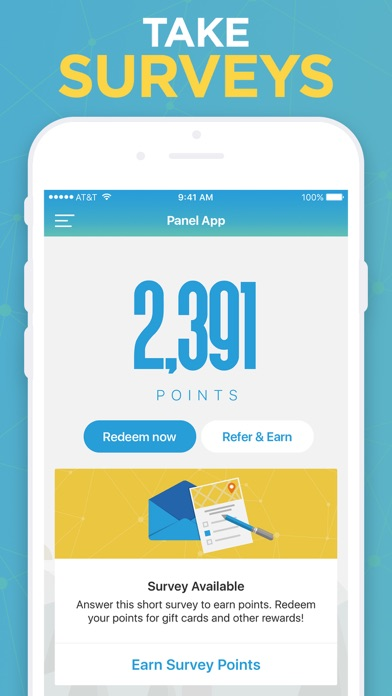 Screenshot for Panel App - Prizes & Rewards in United States App Store