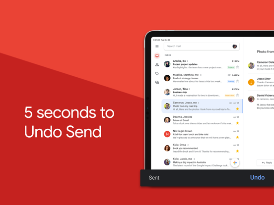 Gmail - email from Google screenshot