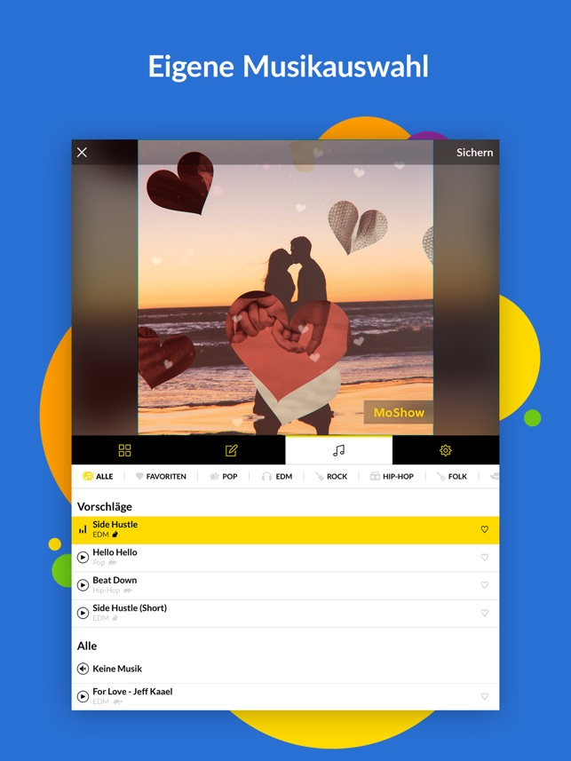 Moshow Foto Diashow Mit Musik Im App Store