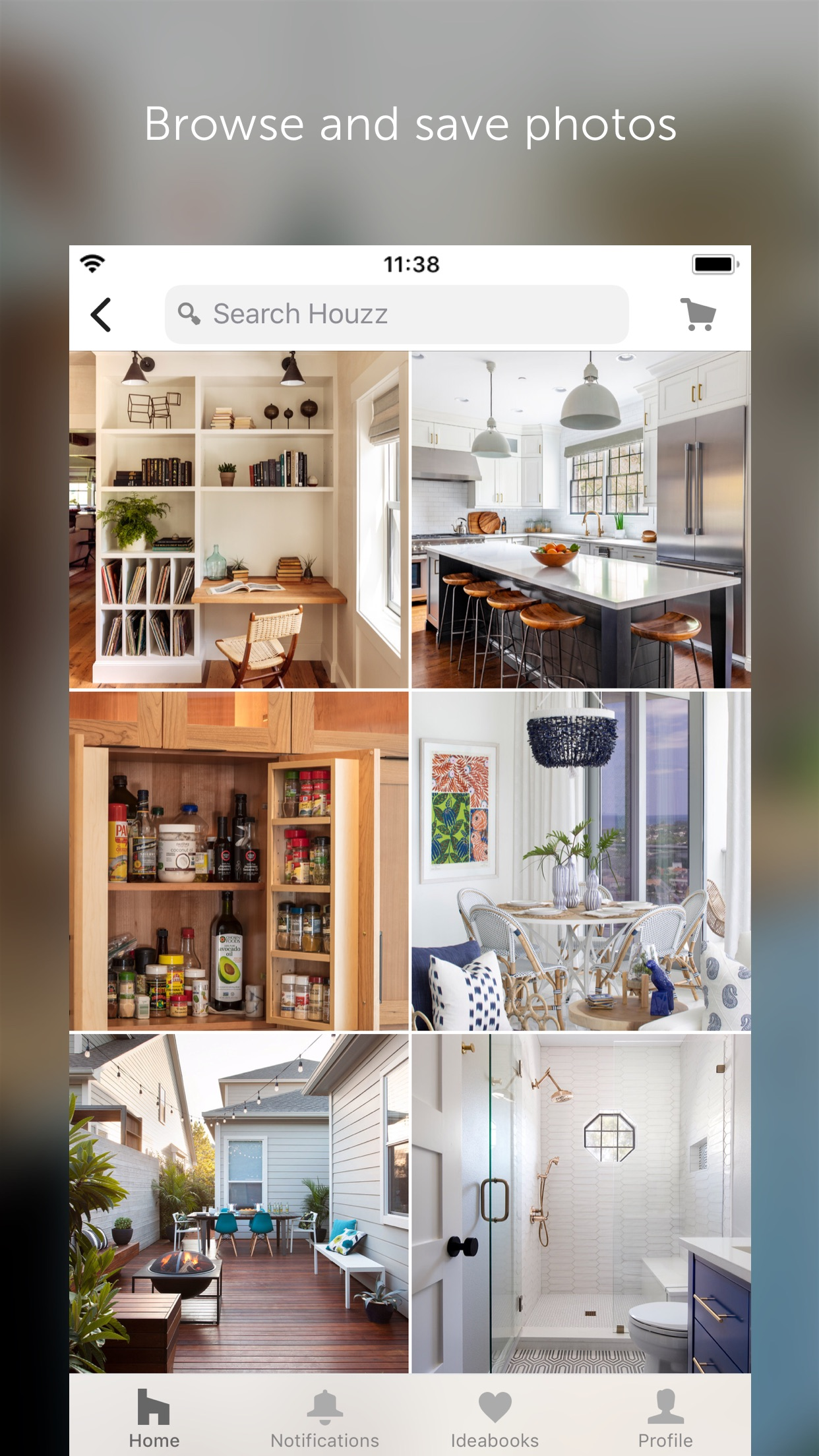 Screenshot do app Houzz - Home Design & Remodel