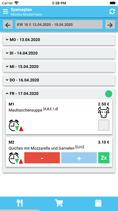 Nürnberger MenüScreenshot von 2