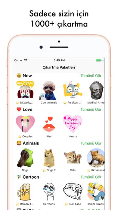 Screenshot for Top Çıkartmalar Sticker Maker in Turkey App Store