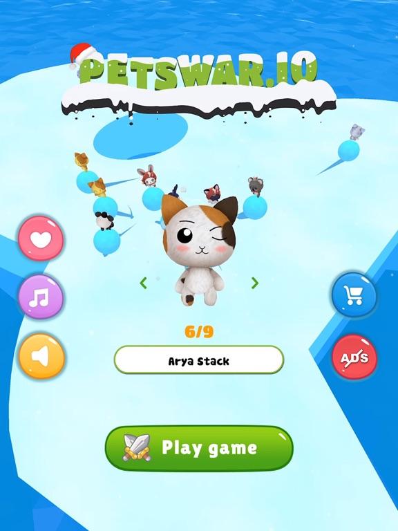Petwar.io - Snowball war на iPad