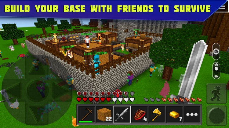 Planet of Cubes Survival Craft screenshot-0