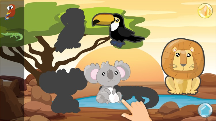 Cute Animals - Toddlers Puzzle screenshot-3